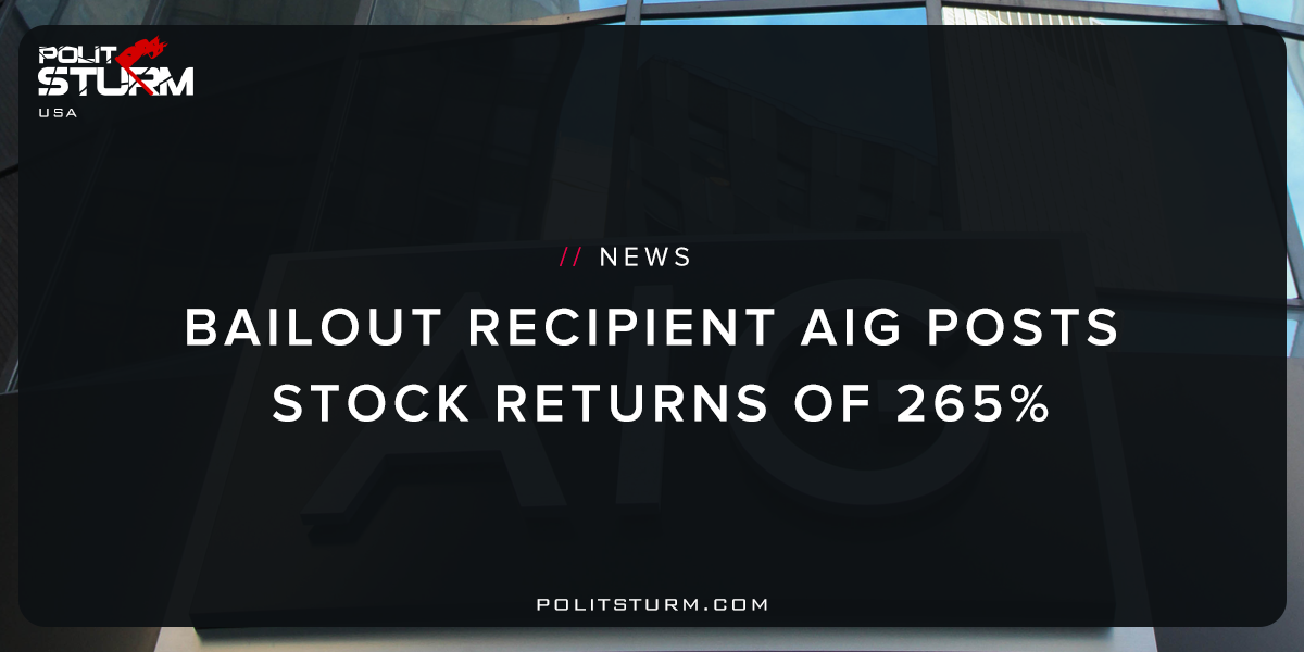 Bailout Recipient AIG Posts Stock Returns of 265%